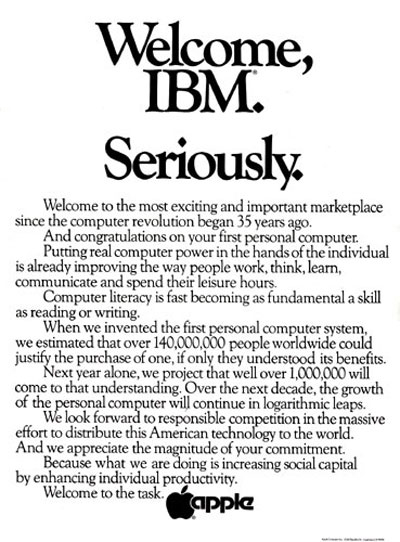 Welcome, IBM. Seriously.